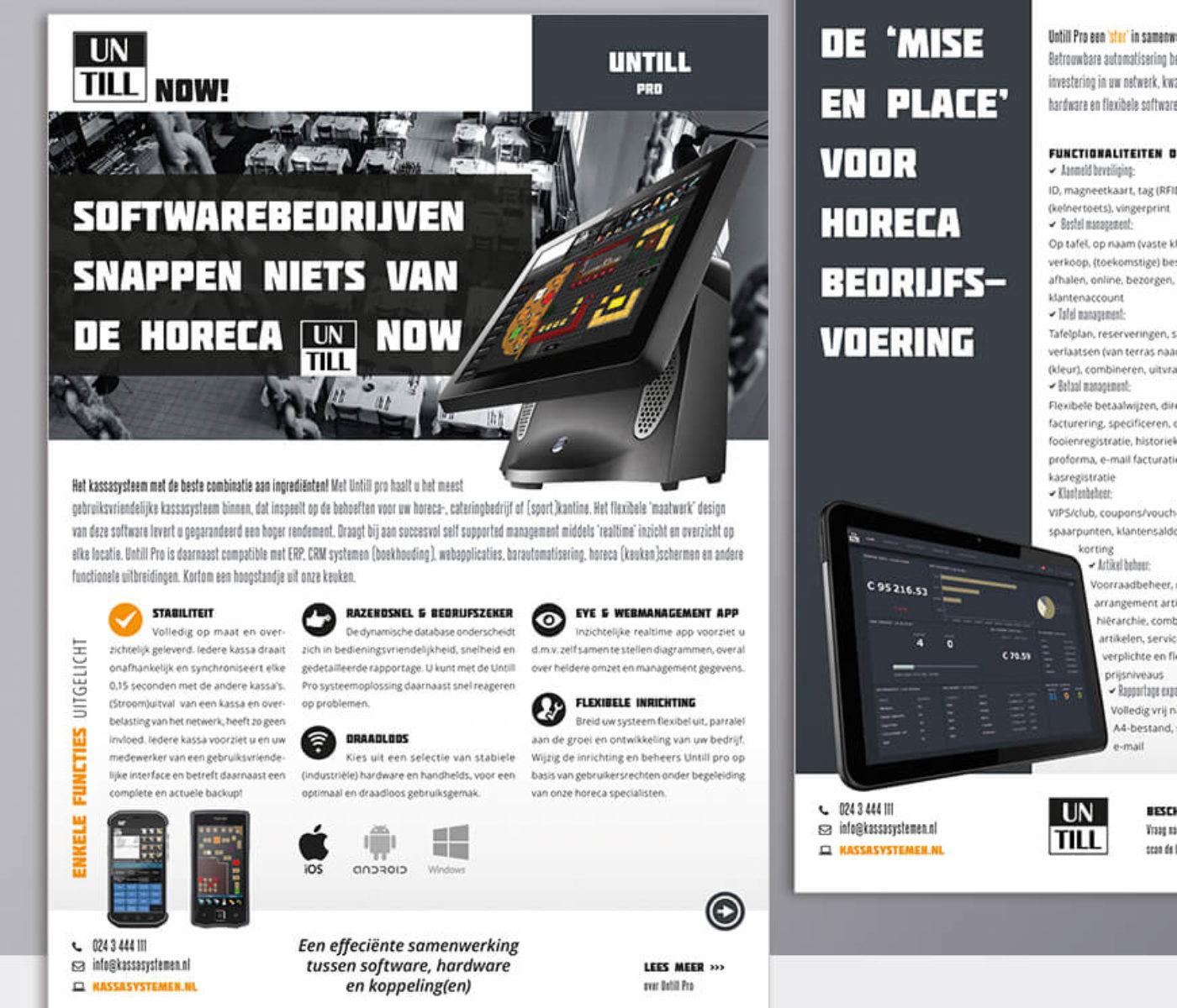 Productsheet leaflets voor Janssens Kassasystemen