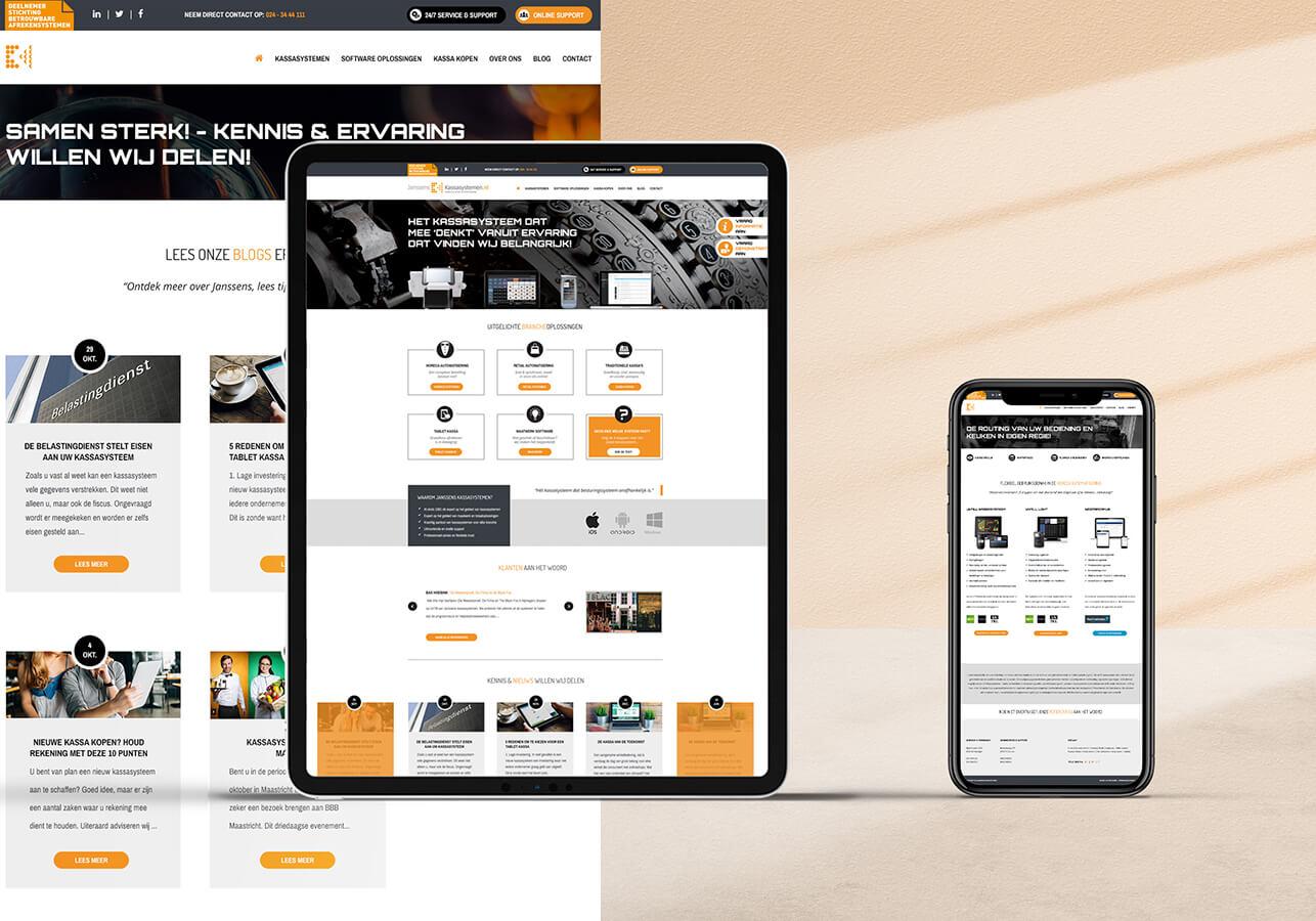 Webtemplate design Kassasystemen.nl