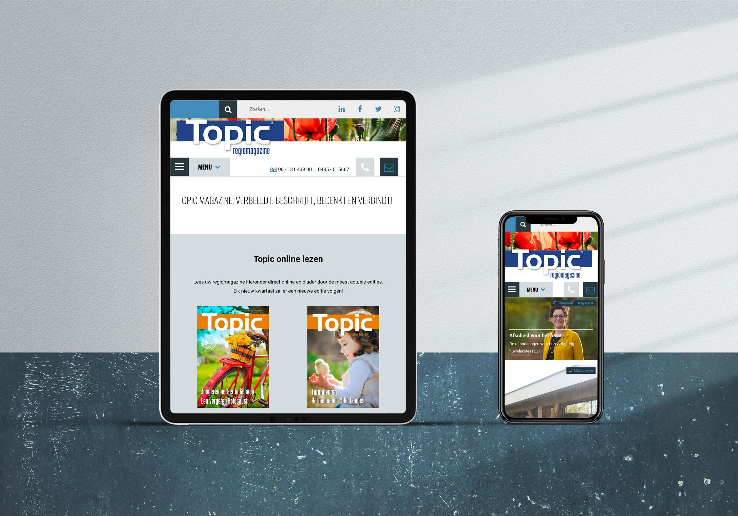 Website CMS Topic online magazine