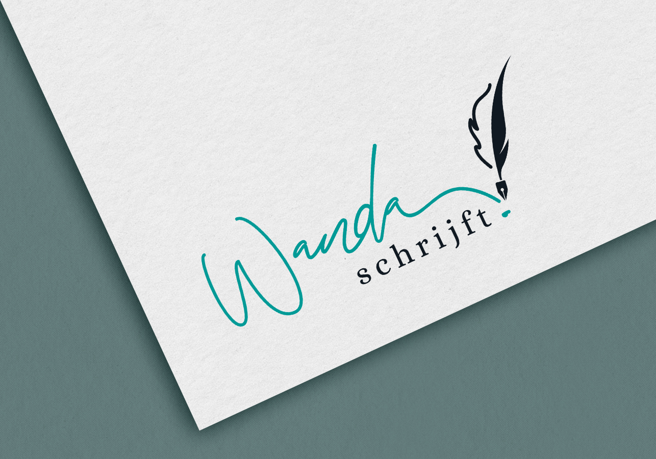Branding logo design Wanda Schrijft