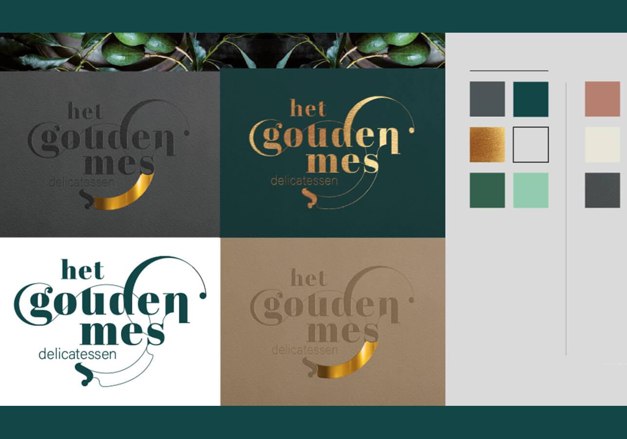 Logo ontwerp voor het gouden mes